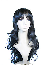 Capless Extra Long Synthetic Black European Weave Hair Wig