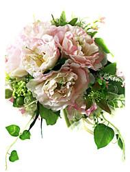 Elegant Silk Hibiscus With Chiffon Decoration Round Wedding Bouquet/ Bridal Bouquet