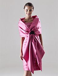 KALIKA - Robe pour Mariage et de Demoiselle d'Honneur Satin - Châle Inclus