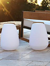 Lámpara LED inalámbrico y recargable para el jardín - forma de la vasija (1075-vessel288)