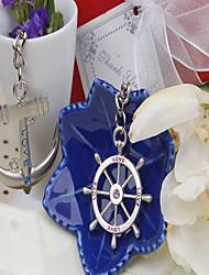 """""""Destination Wedding"""" Love Voyage Keyring (Set of Two) in Velvet Gift Bag"""