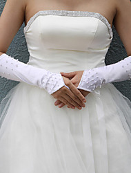 Satin Elbow Wedding Gloves