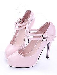 Patent Leather Upper High Heel Closed-toes Fashion Shoes