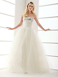 Lanting Ball Gown Strapless Floor-length Tulle Wedding Dress