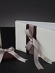 de chocolate livro de visitas de cetim e uma caneta set