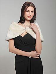Sleeveless Faux Fur Bridal Wedding Jacket/Shawls