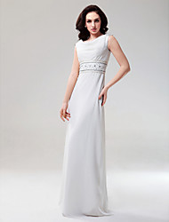 Sheath/ Column Scoop Floor-length Chiffon Evening Dress