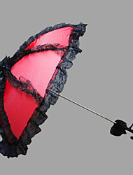 "Wedding Lace Umbrella Hook Handle 26.8""(Approx.68cm) Plastic 28.4""(Approx.72cm)"