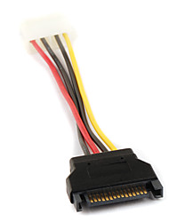 sata 4p vrouwelijk naar 15p serial ata sata power adapter kabel 0.15m