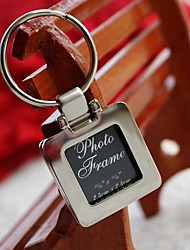 Flip Open Square Photo Keyring in Velvet Bag