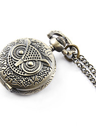 Antique owl quartz small pocket watch necklace chain Cool Watches Unique Watches