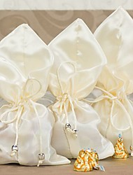 Ivory Silk Wedding Favor Pouches (Set of 6)