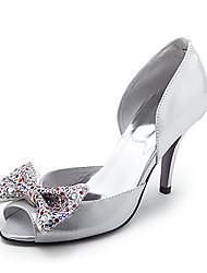 Leder High Heel Peep-Toes mit Strass Mode Schuhe