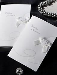 Номера для персонализированных Боковой сгиб Свадебные приглашения Образец приглашения-1 Шт./наборСтаринный / Классический / Цветочный