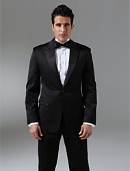 Custom Made Single Breasted One-button Peak Lapel Side-vented Groom Tuxedo