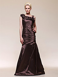 Trumpet/ Mermaid Straps Floor-length Taffeta Evening Dress
