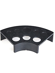 Fan Shape Black Plastic Ink Cup Holder
