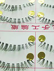 natürlich aussehende falsche Wimpern (10 Paar)