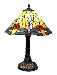 Tiffany style Dragonfly Pattern Stained Glass Table Lamp Umbrella Shaped