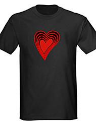 som e música ativado espectro vu metros el visualizador levou t-shirt (4 * aaa)