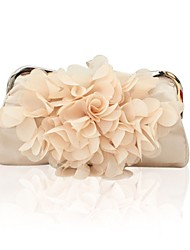 Women Satin Event/Party Evening Bag White / Beige / Purple / Red / Black