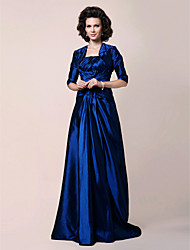 Lanting A-line Strapless Floor-length Side-Draped Taffeta Mother of the Bride Dress With A Wrap