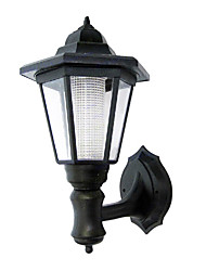 Solar Power LED Wall Light - Black Shade