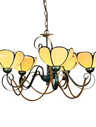 estilo tiffany luz do pendente cor quente com 5 luzes