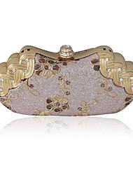 Satin Shell With Rhinestone Evening Bag Handbag Purse Clutch