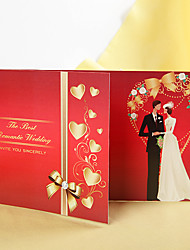 The Best Romantic Wedding Bride & Groom Wedding Invitation-Set of 50/20/10