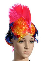 монолитным короткие кристатным цвет вентиляторов костюм участника фестиваля волосы парика