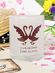 personalizada de vidrio esmerilado taza