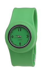 Femme Quartz Bande Vert