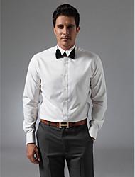 Wingtip Collar Plain Fly Front Dress Shirt
