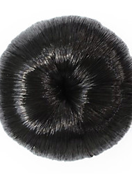Synthetic Small Black Curly Wrap Hairpiece