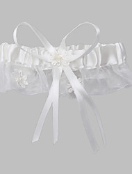 Polyester With Satin Ribbons Wedding Garters