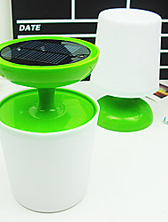 Solar Table Light with Green Base