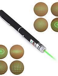 Stylo Laser Vert (5 Effets Spéciaux - 5mW - 532nm - 2 x AAA)
