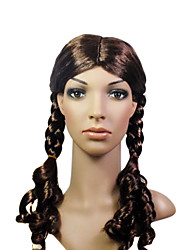 Capless High Quality Synthetic Long Pigtail Costume Party Wig