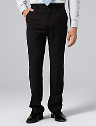 Black Pinstripe Suit Pants