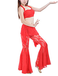 Belly Dance Outfits Women's Training Lace Sleeveless Dropped