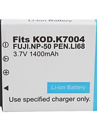 1400mAh 3.7v fotocamera digitale batteria np-50/k7004 per Fujifilm, casio e molto altro