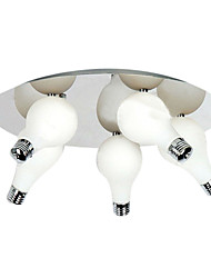 Modern Flush Mount with 5 Lights in Round (G4 Bulb Base)