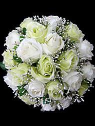 élégante bouquet de mariée en satin rondes