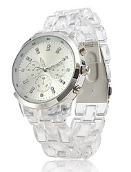 Plastic Band Quartz Wrist Watch For Women