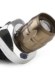 180lm 3-el modo Cree XR-E Q5 llevada flexible brillante estupenda de las luces (2 x batería 18650) s-801