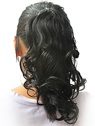 """High Quality Synthetic 12.60"""" Curly Natural Black Ponytail"""