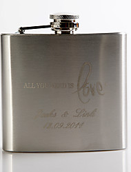 Gift Groomsman Personalized Metal 5-oz Flask - All you need is love