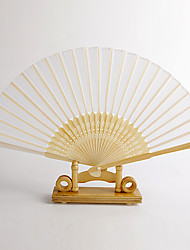 White Bamboo Hand Fan (set of 4)