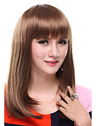 Capless Long Straight Brown Synthetic Wig